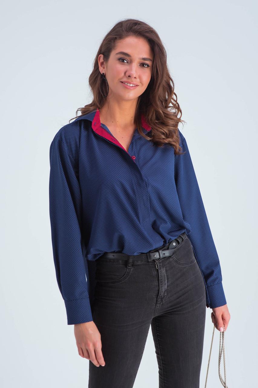 Рубашка женская  Габи синий