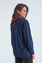 Рубашка женская  Габи синий, фото 3