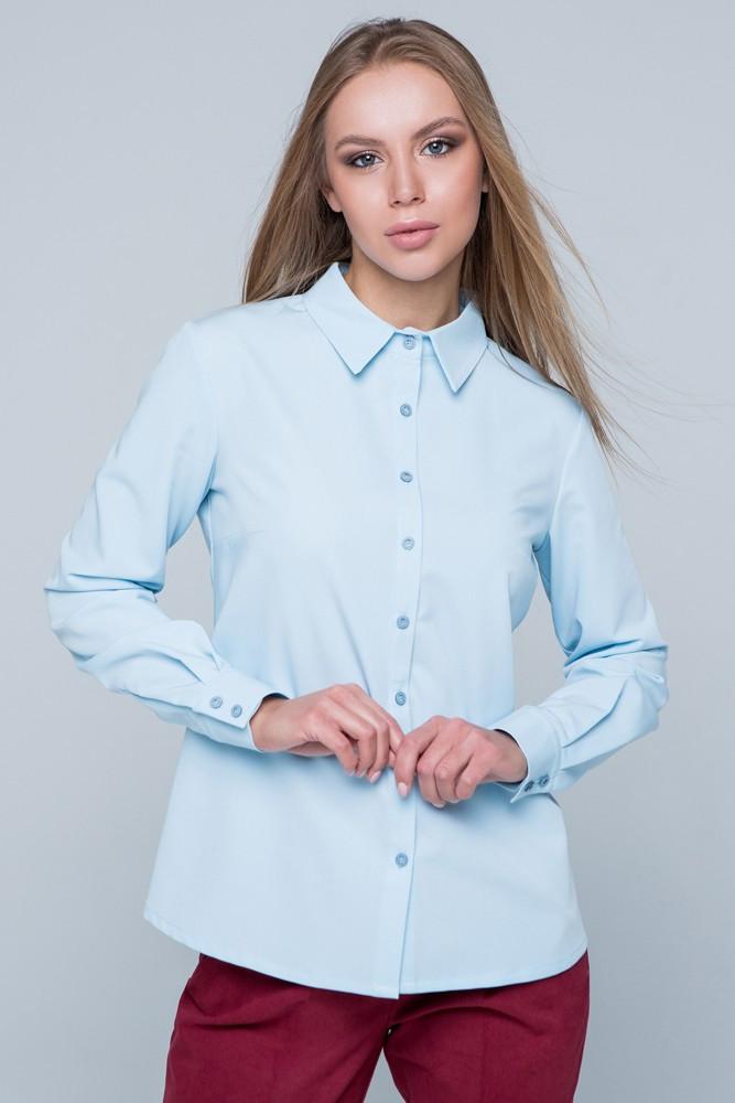 "Рубашка женская  ""Карина"" голубой"