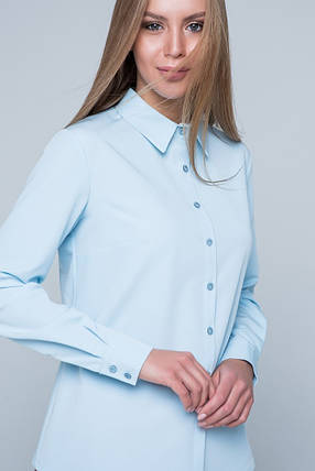 """Рубашка женская  """"Карина"""" голубой, фото 2"""