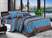 Комплект постельного белья евро ТМ TAG поликоттон 200 х 215 см (XHY112)