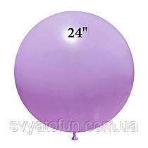 """Латексний кулька макарун бузковий 24"""" 1шт ArtShow"""
