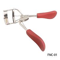 Щипцы для завивки ресниц FNC-01 (бордовые ручки) с запасной резиновой прокладкой