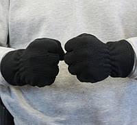 Рукавички флісові зимові, чорні Польські дуже щільні, фото 1