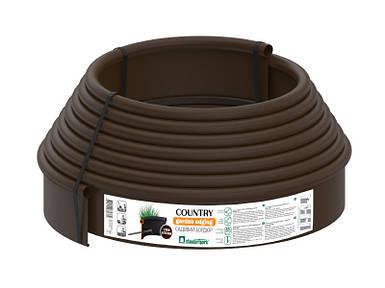 Бордюрная лента (бордюр) Кантри Б-1000.2.11-ПП коричневая