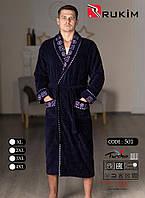 Мужской халат натуральный без капюшона Турция