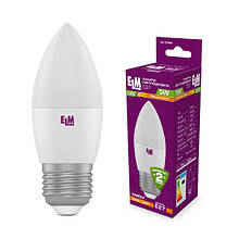 """Свічка Ламп. світлодіодна""""ELM"""" 5Вт Е27 () 3000K  18-0080"""