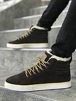 Мужские зимние ботинки на меху Adidas Runsom Fur Brown. Размеры (40,41,42,43,44,45)
