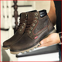 Зимние мужские ботинки Lev'is темно-коричневые (р. 41, 42, 43, 44, 45, 46), фото 1