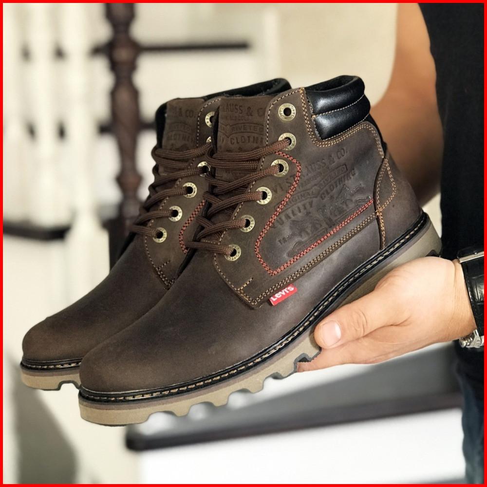 Зимние мужские ботинки Lev'is темно-коричневые (р. 41, 42, 43, 44, 45, 46)