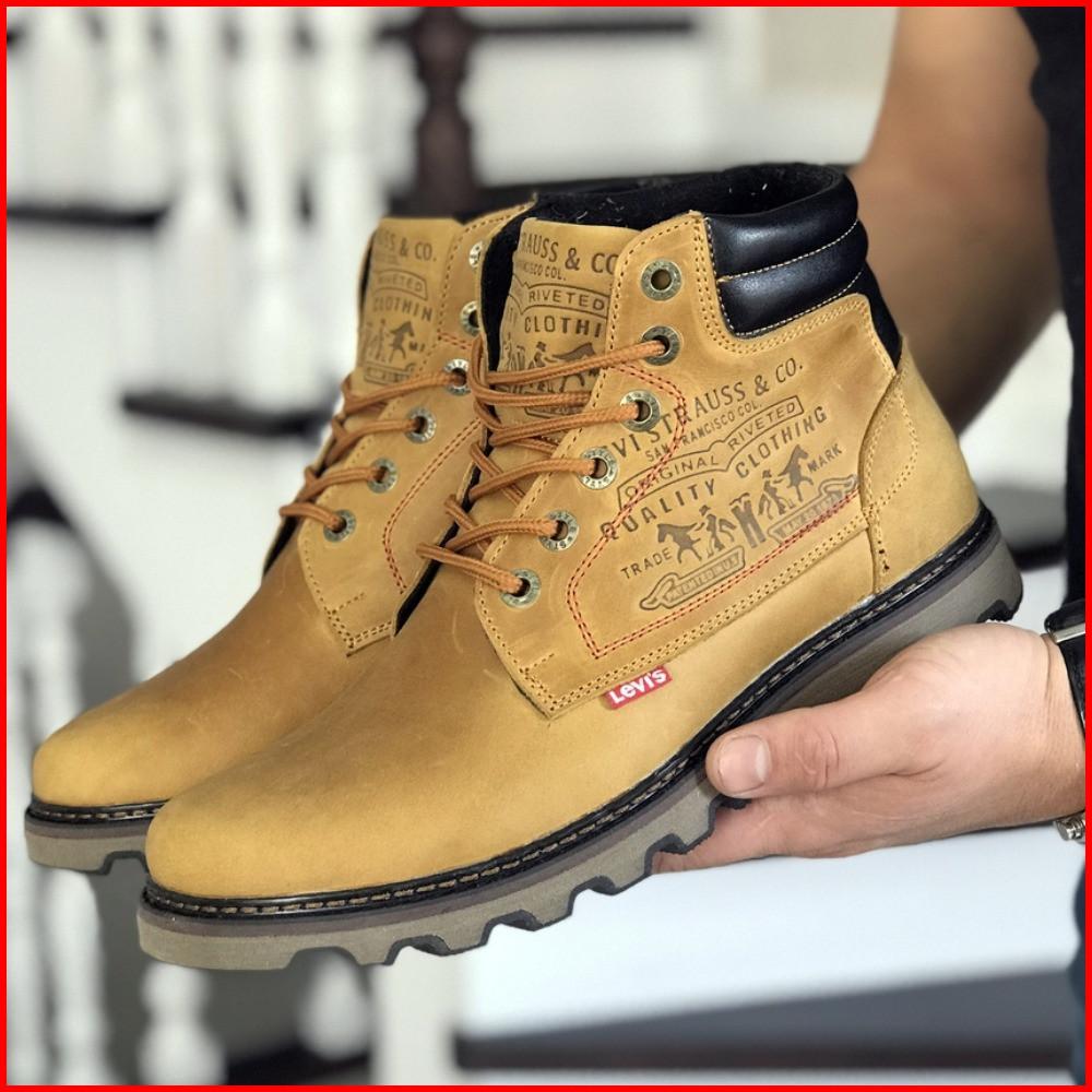 Зимние мужские ботинки Lev'is рыжие (р. 41, 42, 43, 44, 45, 46)