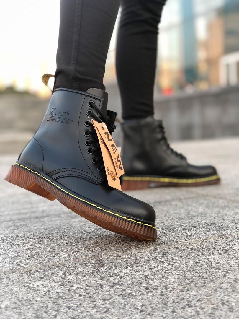 Мужские ботинки Dr.Martens Black Classic демисезон, чёрные. Размеры (36,37,38,40,43,44)