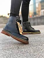 Мужские ботинки Dr.Martens Black Classic демисезон, чёрные. Размеры (36,37,38,40,43,44), фото 1