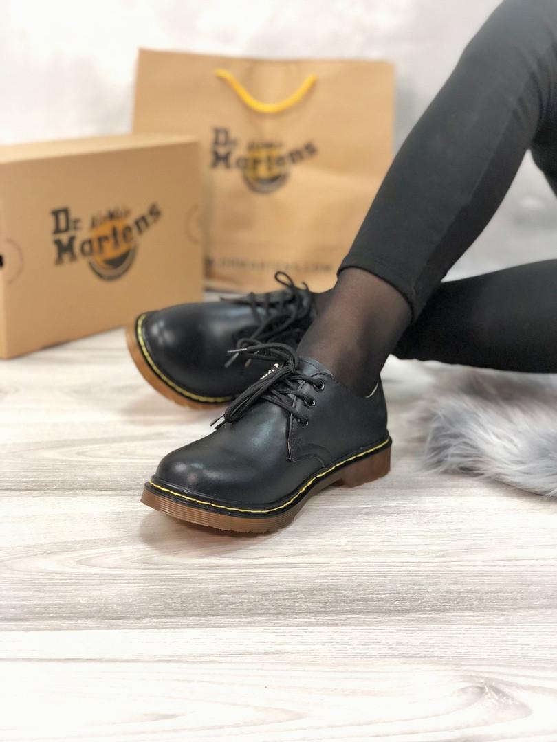 Мужские туфли Dr.Martens Black Low демисезон, чёрные. Размеры (37,38,39,41,44)