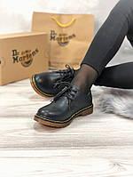Мужские туфли Dr.Martens Black Low демисезон, чёрные. Размеры (37,38,39,41,44), фото 1