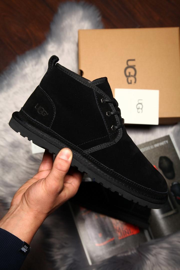 Угги мужские UGG David Beckham Boots замша чёрные. Размеры (41,42,43,44,45)