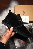 Угги мужские UGG David Beckham Boots замша чёрные. Размеры (41,42,43,44,45), фото 1