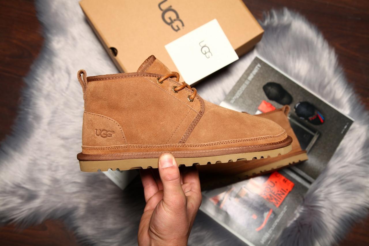 Угги мужские UGG David Beckham Boots замша коричневые. Размеры (41,42,43,44,45)