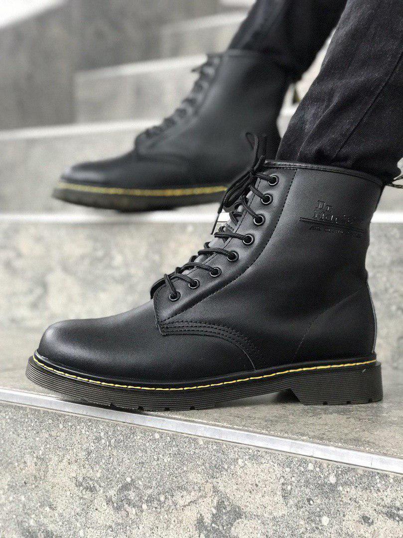 Мужские ботинки Dr.Martens Black Classic Winter зима, чёрные. Размеры (36,37,39,42,43,44,45)