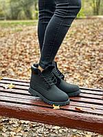 Мужские ботинки Timberland Premium full black (термо) осень/зима, чёрные. Размеры (36,37,38,39,40,41,42,43,44), фото 1