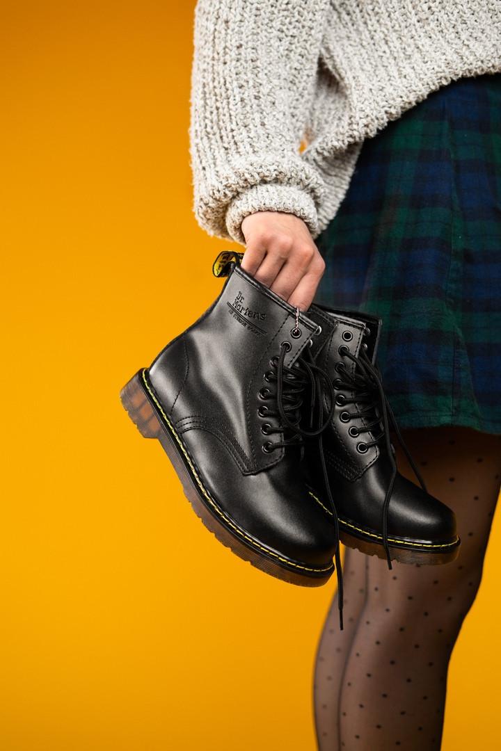 Мужские ботинки Dr.Martens Black Winter (мех) зима, чёрные. Размеры (36,37,38,39,40,41,42,43,44,45)