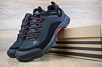 Мужские зимние кроссовки Adidas Climaproof Black (на флисе), чёрно-красные без полосок. Размеры (44,45,46), фото 1