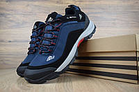 Мужские зимние кроссовки Adidas Climaproof Blue (на флисе), синие без полосок. Размеры (41,44,45), фото 1