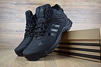 Мужские зимние кроссовки Adidas Climaproof High Black (на меху), чёрные. Размеры (41,42,44,45), фото 1