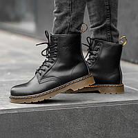 Мужские ботинки Dr.Martens Black Classic Winter зима, чёрные. Размеры (36,37,38,39,40,41,42,43,44,45), фото 1