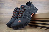 Мужские зимние кроссовки Adidas Climaproof Gray Orange (на меху), чёрно-оранжевые. Размеры (41,42,43,44,45), фото 1