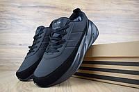 Мужские кроссовки Adidas Shark Black Winter (на меху) зима, чёрные. Размеры (41,42,43,44,45,46), фото 1