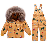 Комплект пуховый куртка и комбинезон детский