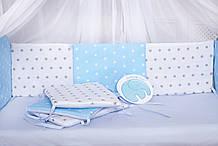 Защита  бортики в кроватку по периметру  8 подушек