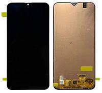 Дисплей (LCD) Samsung A205 Galaxy A20 (2019) Amoled с тачскрином, черный, оригинал (PRC)