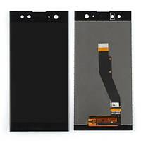 Дисплей (LCD) Sony H4213 Xperia XA2 Ultra з тачскріном, чорний, оригінал (PRC)