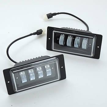 П/т ВАЗ 2110 40W White (4*10W) Линзованные,черный отражатель 174*84*46мм IP67
