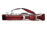 _Футляр для кия-тубус KS-NCT21-37 2В-4S,37 (р-р 94x15x8см, PVC, полиэстер, красно-белый)