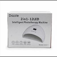 LED UV лед уф лампа Dazzle mini-1 36вт для наращивания ногтей, гель лак Белая