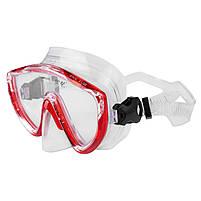 Маска для плавання підліткова червона Dolvor mod. 172, фото 2