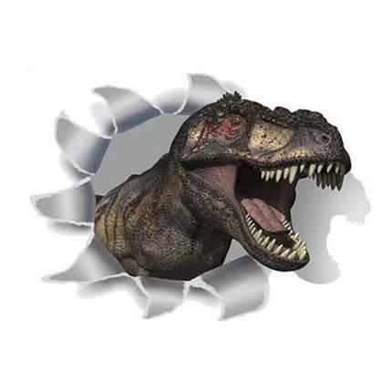 Інтер'єрна наклейка 3D Динозавр SK-2005 30х20см, фото 2