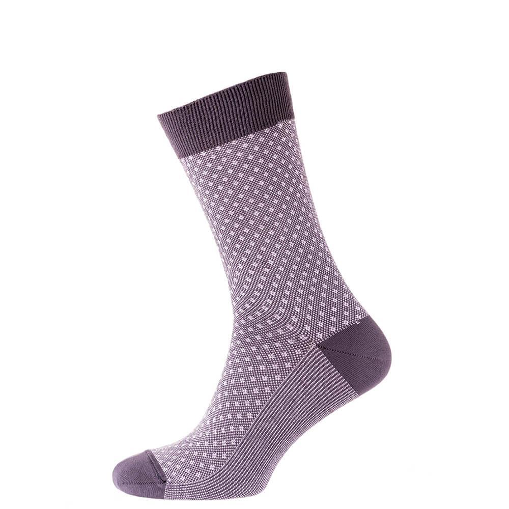 Шкарпетки чоловічі кольорові з бавовни, рожева сітка