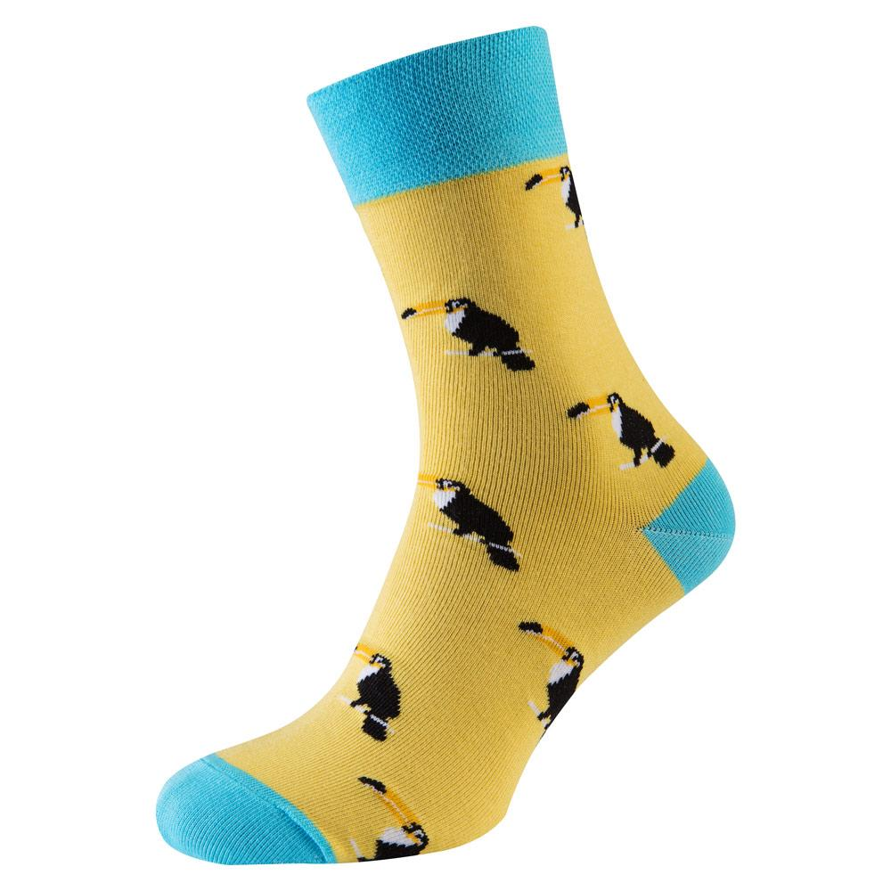 """Шкарпетки чоловічі кольорові з бавовни, сірий """"Пелікан"""""""