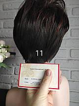 Парик короткая стрижка мелирование брюнет с красным 11, фото 3