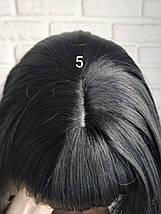 Парик короткая стрижка черный каре по плечи 5 TERESA 1, фото 3