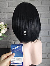 Парик короткая стрижка черный каре по плечи 5 TERESA 1, фото 2