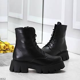 Зимние ботиночки с натуральной кожи 8032