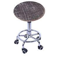 Чохол на барний стілець круглий, табурет з круглим сидінням, фото 1