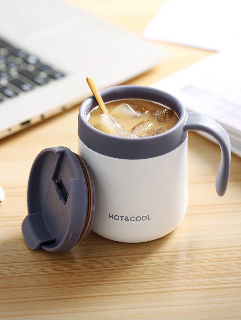 Кавова чашка з кришкою з подвійними стінками і ефектом термоса