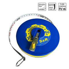 Рулетка S&R Fiberglass Tape 20 м х 13 мм 422920013