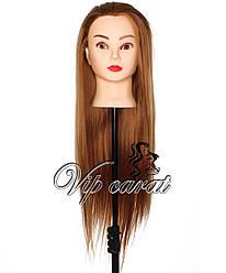 Голова манекен для причесок 20% натуральных волос, тренировочная голова для парикмахера